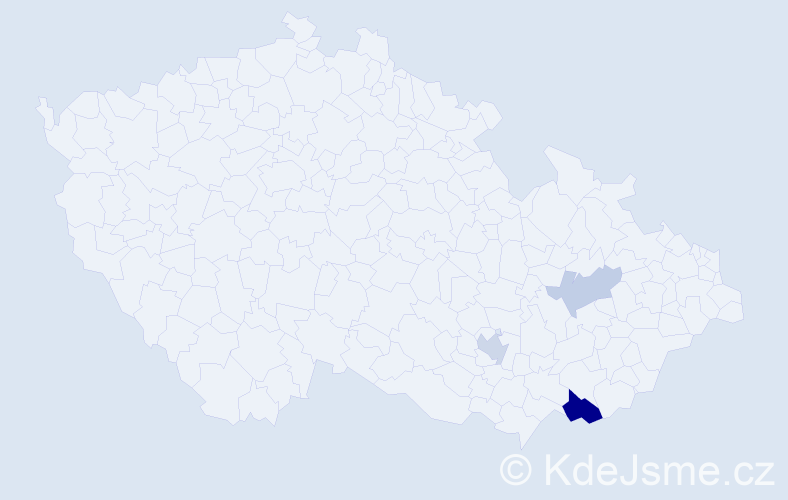 Příjmení: 'Belšíková', počet výskytů 12 v celé ČR