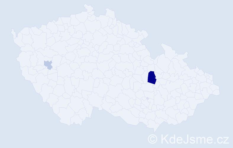 Příjmení: 'Ignatiev', počet výskytů 3 v celé ČR