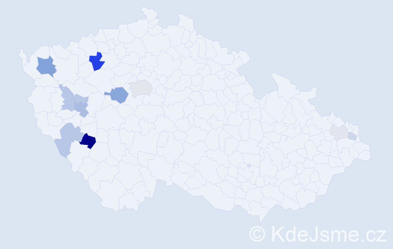 Příjmení: 'Hudličková', počet výskytů 20 v celé ČR