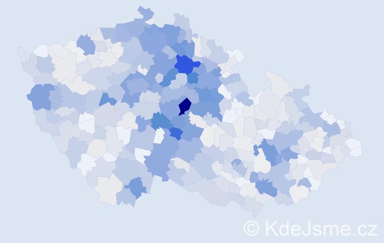 Příjmení: 'Kořínek', počet výskytů 2958 v celé ČR
