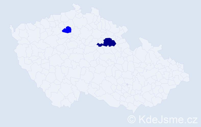 Příjmení: 'Andrašovská', počet výskytů 5 v celé ČR