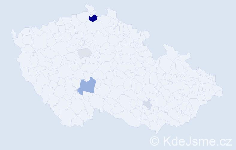 Příjmení: 'Ferrarová', počet výskytů 6 v celé ČR