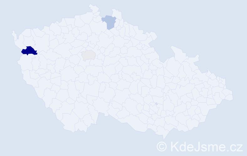 Příjmení: 'Alaxin', počet výskytů 4 v celé ČR
