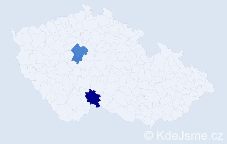 Příjmení: 'Hercjuk', počet výskytů 9 v celé ČR