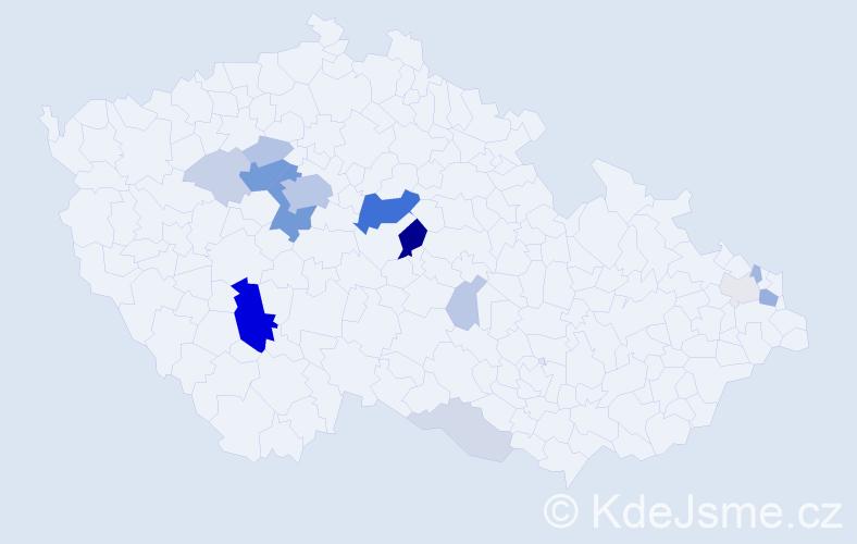 Příjmení: 'Karetová', počet výskytů 59 v celé ČR