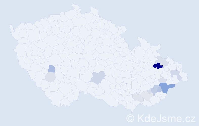 Příjmení: 'Haferník', počet výskytů 34 v celé ČR