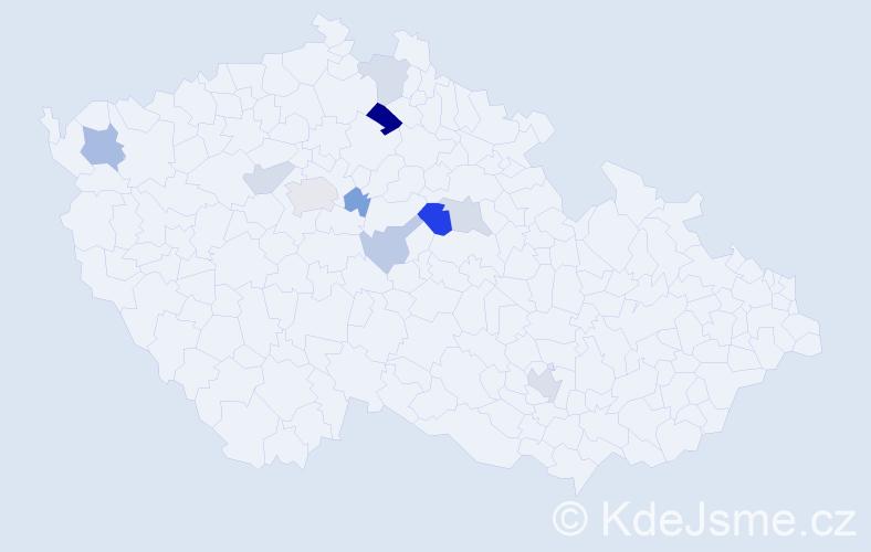 Příjmení: 'Firbasová', počet výskytů 18 v celé ČR