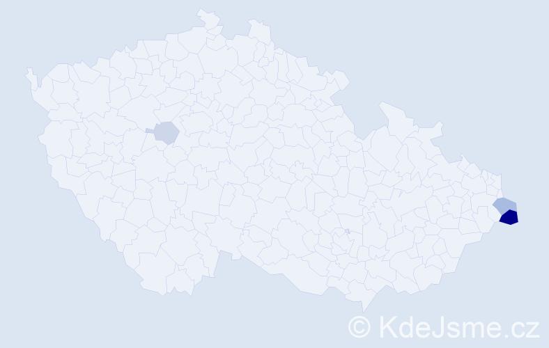 Příjmení: 'Karpecká', počet výskytů 17 v celé ČR