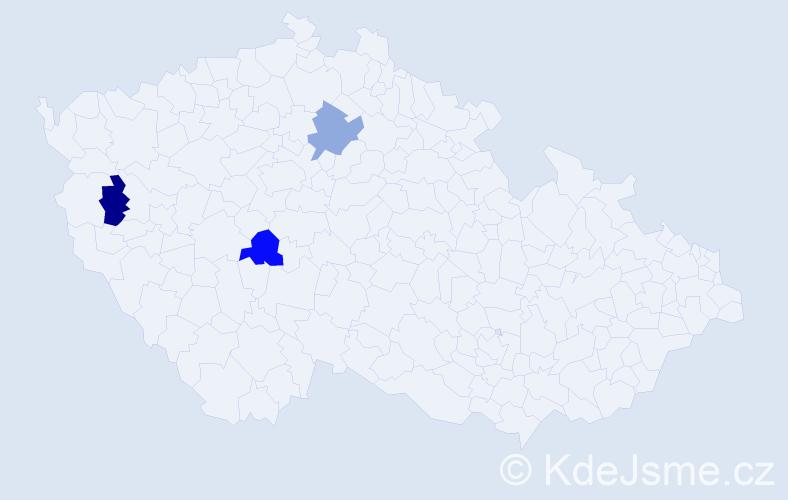 Příjmení: 'Hlivjak', počet výskytů 3 v celé ČR
