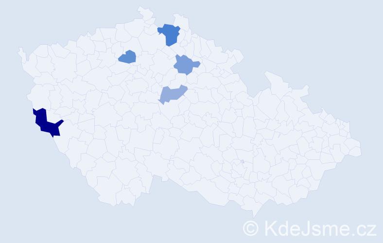 Příjmení: 'Jankulík', počet výskytů 10 v celé ČR