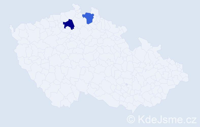 Příjmení: 'Karatsiolisová', počet výskytů 4 v celé ČR