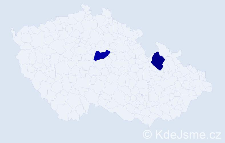 Příjmení: 'Holint', počet výskytů 2 v celé ČR