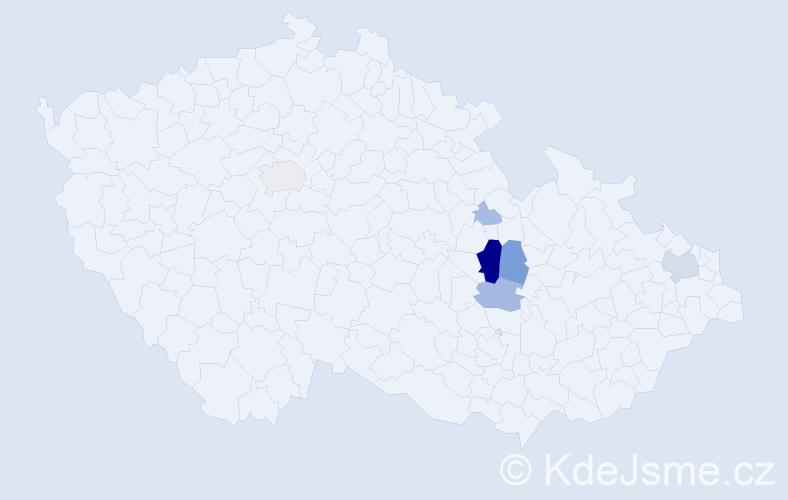 Příjmení: 'Etzler', počet výskytů 18 v celé ČR