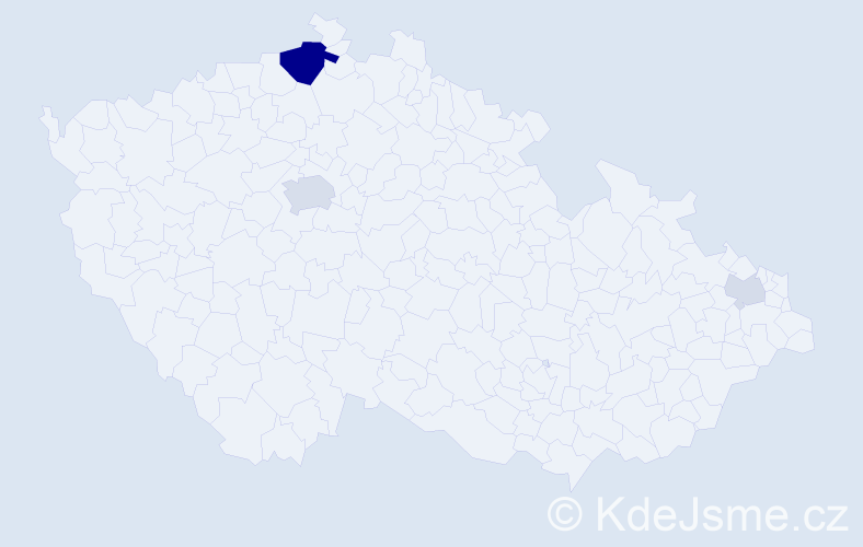 Příjmení: 'Kaye', počet výskytů 10 v celé ČR