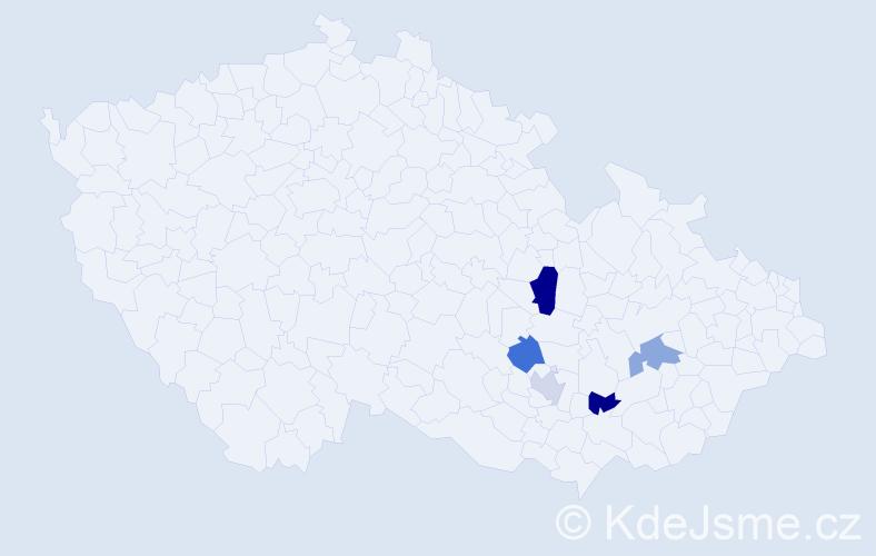 Příjmení: 'Halavin', počet výskytů 6 v celé ČR
