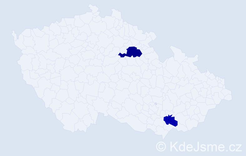 Příjmení: 'Jurůtková', počet výskytů 6 v celé ČR