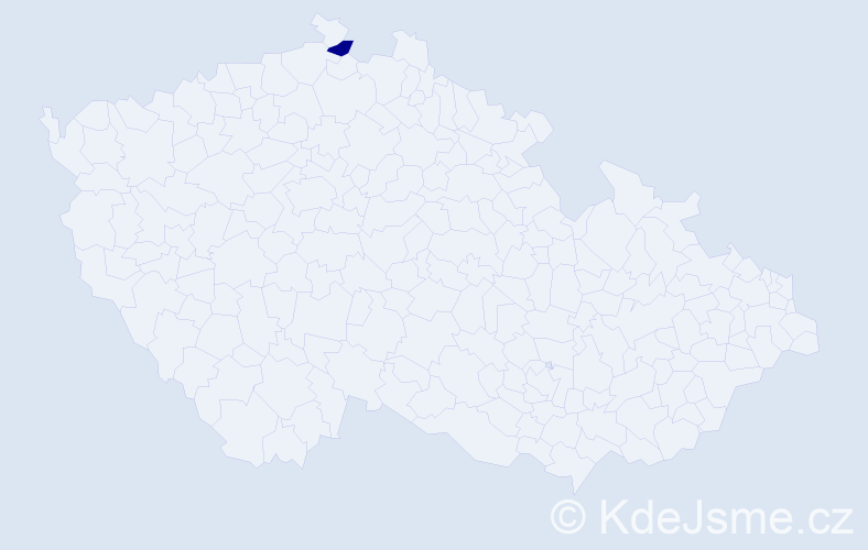 Příjmení: 'Ivaškovyčová', počet výskytů 5 v celé ČR