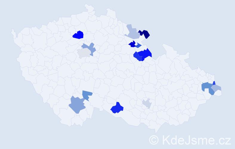 Příjmení: 'Alina', počet výskytů 34 v celé ČR