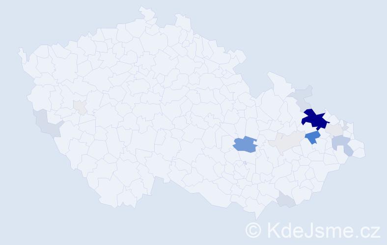 Příjmení: 'Celtová', počet výskytů 60 v celé ČR