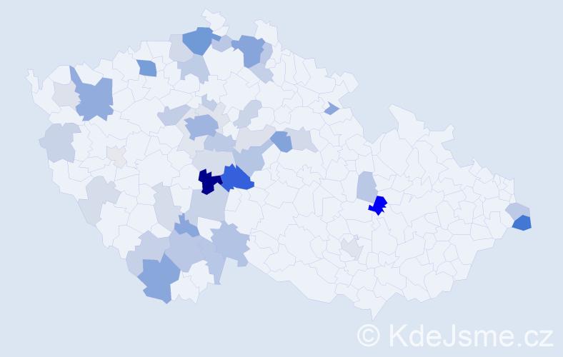Příjmení: 'Kulišová', počet výskytů 132 v celé ČR