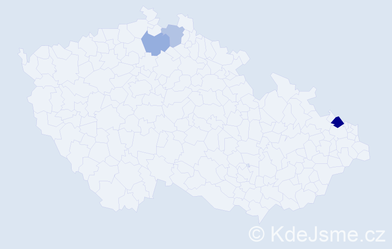 Příjmení: 'Czichon', počet výskytů 10 v celé ČR