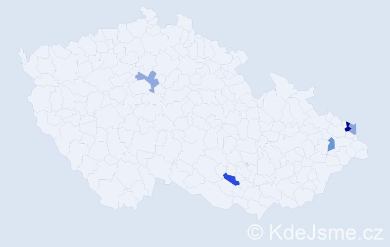 Příjmení: 'Babaríková', počet výskytů 7 v celé ČR