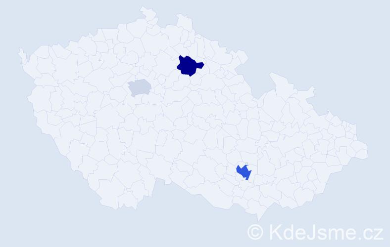 """Příjmení: '""""D'amico""""', počet výskytů 5 v celé ČR"""