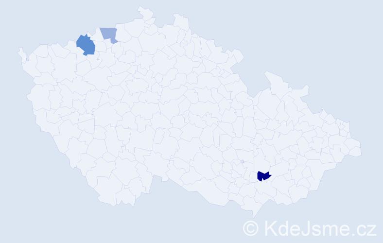 Příjmení: 'Jabrocký', počet výskytů 4 v celé ČR