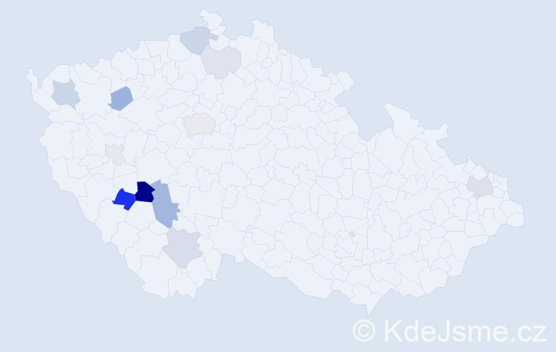Příjmení: 'Březnická', počet výskytů 27 v celé ČR