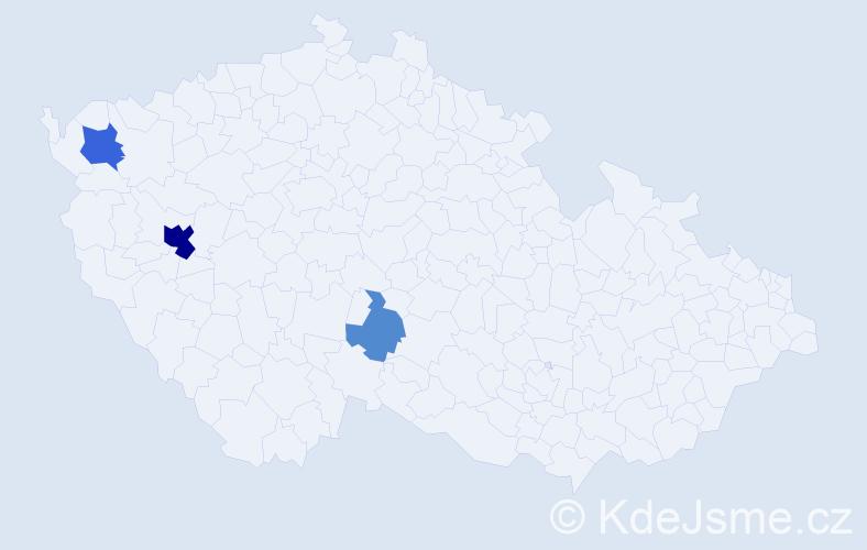 Příjmení: 'Eichackerová', počet výskytů 9 v celé ČR