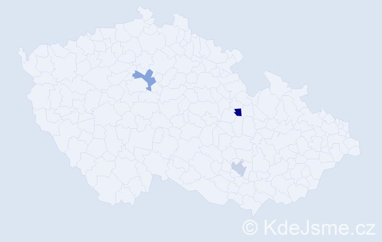 Příjmení: 'Izer', počet výskytů 3 v celé ČR