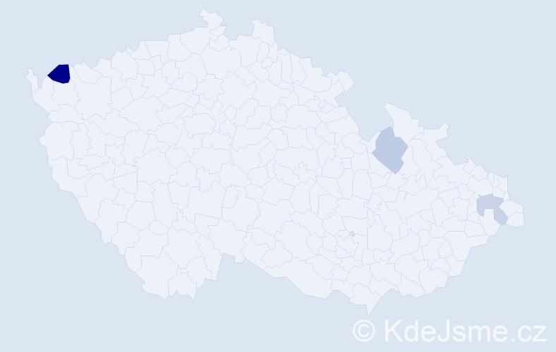 Příjmení: 'Jauerník', počet výskytů 4 v celé ČR