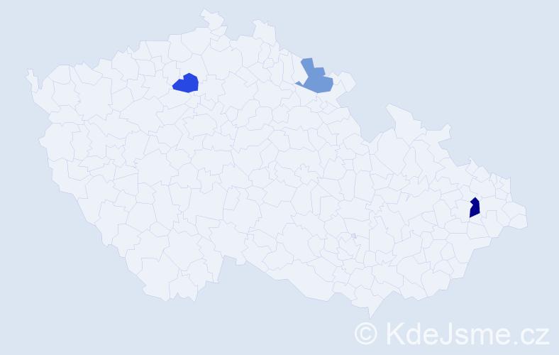Příjmení: 'Hajtmánková', počet výskytů 4 v celé ČR