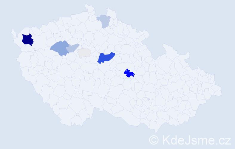 Příjmení: 'Legrová', počet výskytů 32 v celé ČR