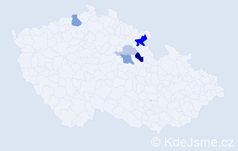 Příjmení: 'Fettersová', počet výskytů 11 v celé ČR