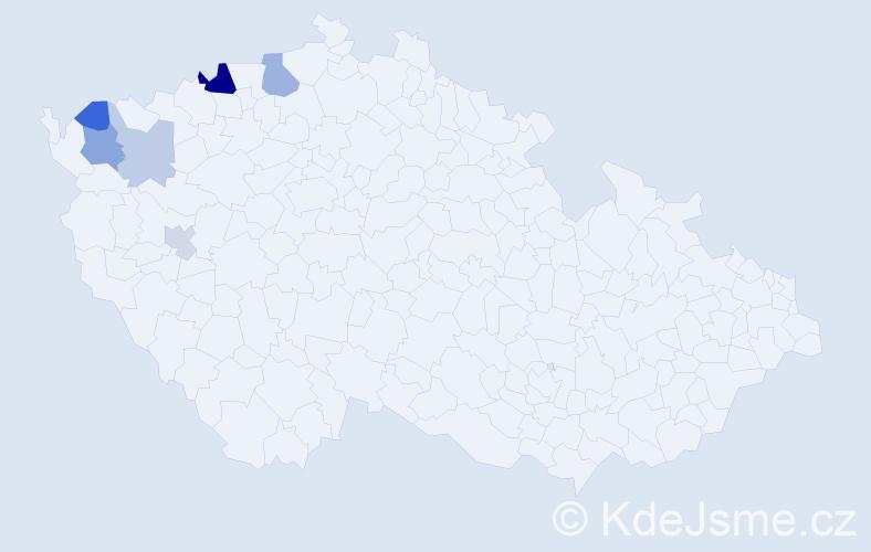 Příjmení: 'Gebhardová', počet výskytů 12 v celé ČR