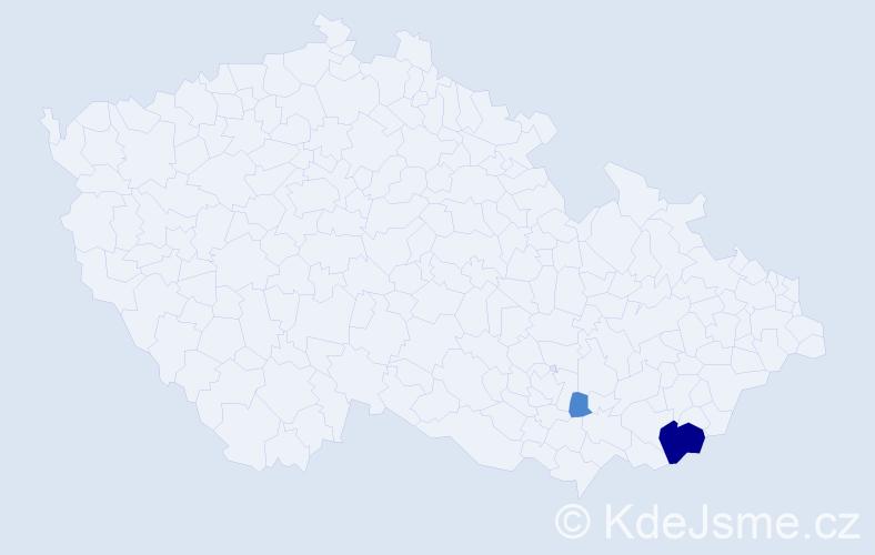 Příjmení: 'Balijová', počet výskytů 6 v celé ČR