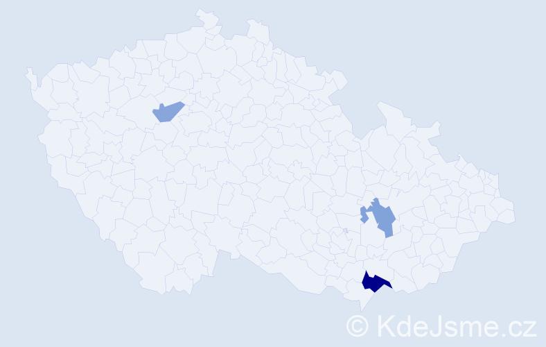 Příjmení: 'Enkršperg', počet výskytů 5 v celé ČR
