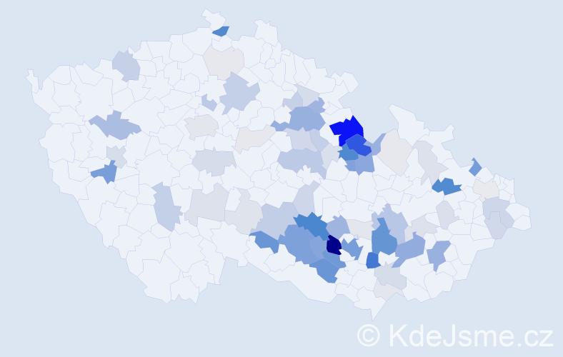 Příjmení: 'Holubář', počet výskytů 289 v celé ČR