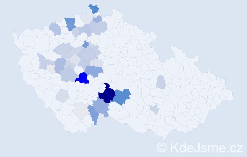 Příjmení: 'Cháb', počet výskytů 159 v celé ČR