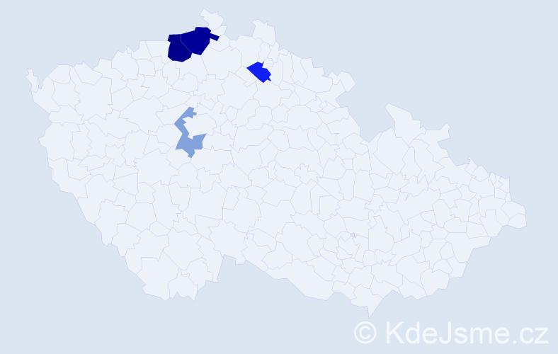 Příjmení: 'Kopiar', počet výskytů 9 v celé ČR