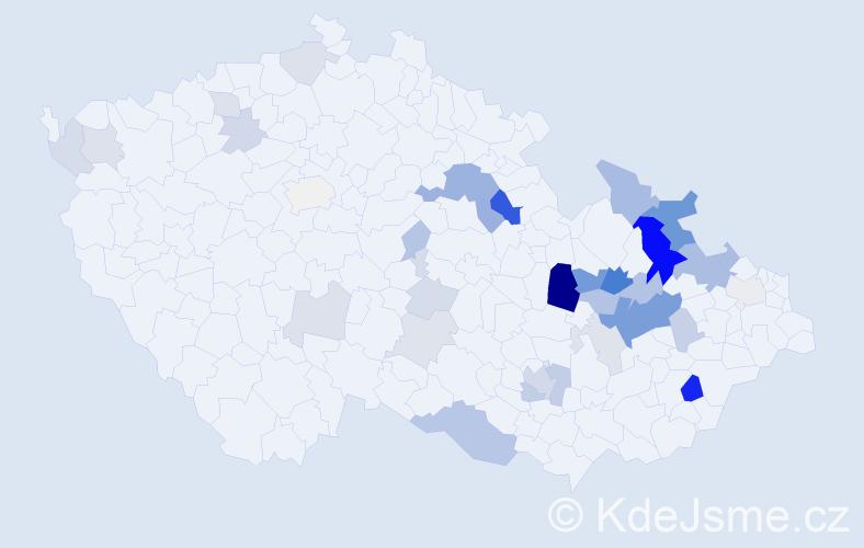 Příjmení: 'Finsterlová', počet výskytů 89 v celé ČR