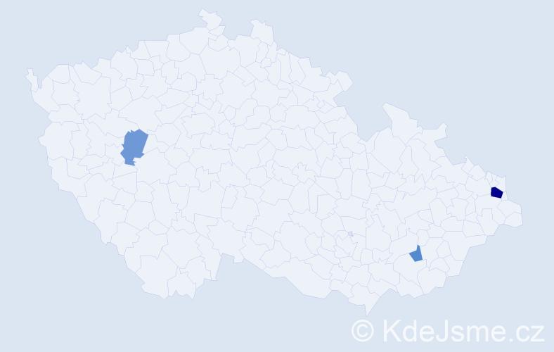 Příjmení: 'Kavaler', počet výskytů 7 v celé ČR