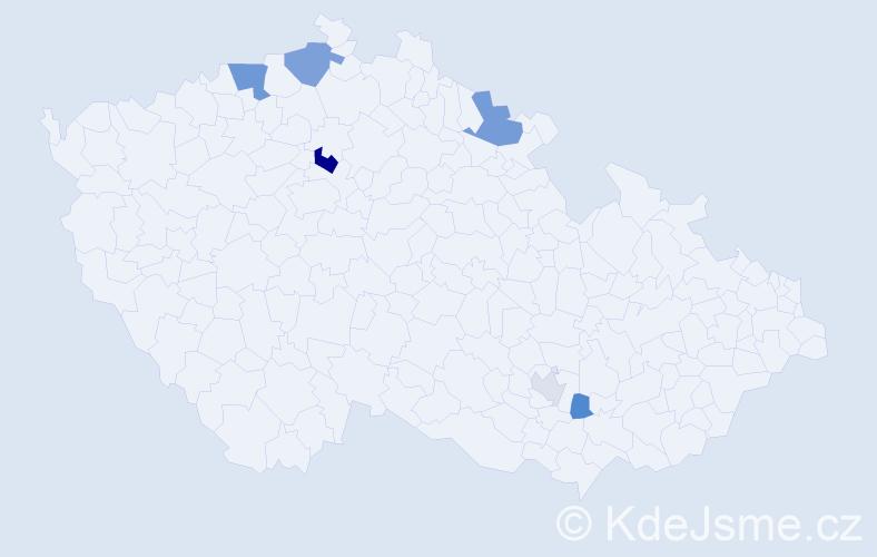 Příjmení: 'Grozaničová', počet výskytů 12 v celé ČR