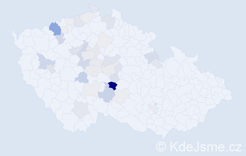 Příjmení: 'Buňata', počet výskytů 111 v celé ČR