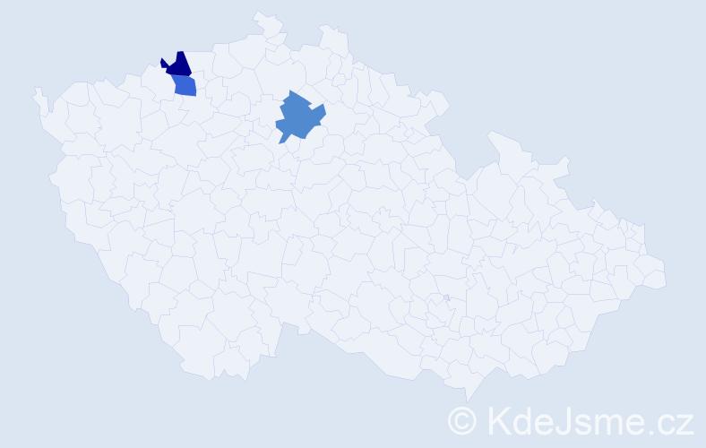 Příjmení: 'Federhans', počet výskytů 6 v celé ČR