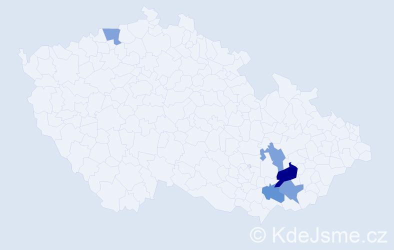 Příjmení: 'Indrůch', počet výskytů 7 v celé ČR