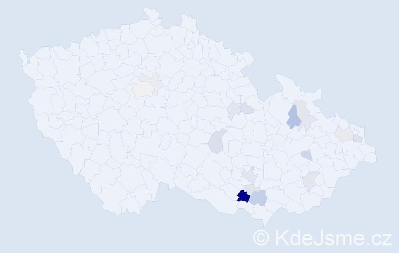 Příjmení: 'Faronová', počet výskytů 43 v celé ČR