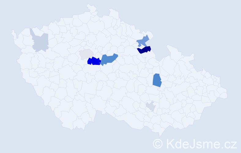 Příjmení: 'Grimmerová', počet výskytů 26 v celé ČR