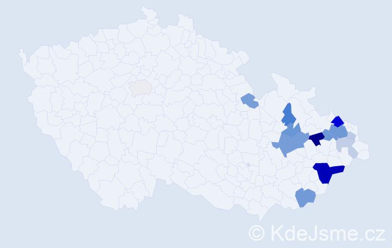 Příjmení: 'Glonková', počet výskytů 34 v celé ČR